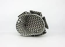 Košíky - Košík-organízer na kozmetiku s geometrickým vzorom - 10535428_
