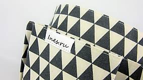 Košíky - Košík-organízer na kozmetiku s geometrickým vzorom - 10535431_