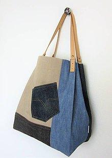 Veľké tašky - Veľká džínsová taška - 10535395_