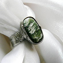 Prstene - Prsteň so serafinitom ☼ LUCE ☼ - 10536596_