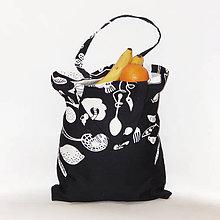Nákupné tašky - Nákupná taška - Čierno-biela úroda - 10535613_