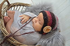 Detské čiapky - Pletená vintage čepička pro miminka - 10536546_