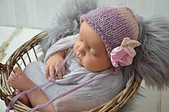 Detské čiapky - Čepička na focení miminek - 10536560_