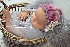 Detské čiapky - Čepička na focení miminek - 10536561_