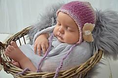 Detské čiapky - Čepička na focení miminek - 10536564_