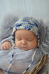 Detské čiapky - Čepička na focení miminek - 10536571_