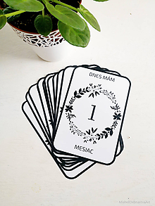 "Detské doplnky - Míľnikové kartičky ""B&W Circles"" - 10535440_"