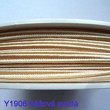Galantéria - Šujtáš PEGA 3mm-1m (Y1906-sv.béžová) - 10536249_