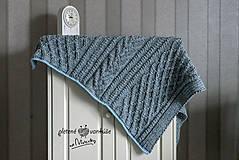 Úžitkový textil - deka Nezábudka - 10535385_