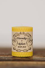 Darčeky pre svadobčanov - Menovka alebo darček pre svadobčanov - Točené -Vzor č.4 - 10532976_