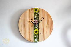 Hodiny - Rozkvitnuté hodiny - 10536187_