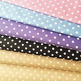 Textil - béžové bodky, 100 % bavlna, šírka 140 cm - 10535336_