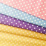 Textil - béžové bodky, 100 % bavlna, šírka 140 cm - 10535338_