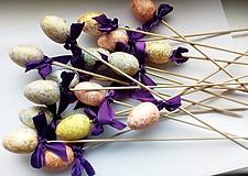 Materiál ručne robený - Zapichovacie vajíčka na dotvorenie - 10533350_