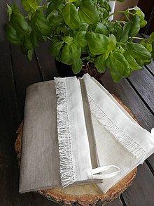 Úžitkový textil - Ľanová kuchynská utierka - 10533737_