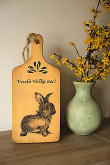 Dekorácie - Obojstranný lopár - Zajac / srdce - 10535406_