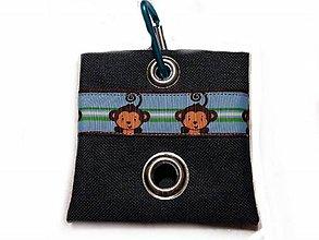 Pre zvieratká - Zásobník na WC vrecká Opica - 10533102_