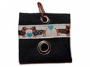 Pre zvieratká - Zásobník na WC vrecká Jazvečík - 10533124_