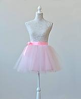 Detské oblečenie - Detská tylová zavinovacia sukňa - 10534552_
