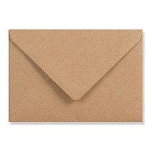 Papier - Svadobná obálka hnedá recyklovaná manilla (C6) - 10534487_