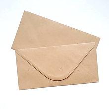 Papier - Obálka DL hnedá recyklovaná s jemnou prúžkovou textúrou - 10534980_