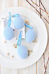 Dekorácie - veľkonočné vajíčko - modré - 10535857_