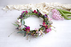 Ozdoby do vlasov - Kvetinový venček ,,eukalyptus farebný,, - 10534663_