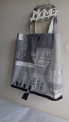 Veľké tašky - Nákupka skladacia s pevným dnom šedá - 10535310_