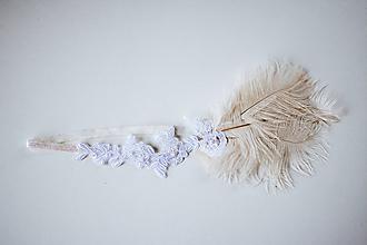 Ozdoby do vlasov - Retro čelenka z čipky - VÝPREDAJ - 10536608_