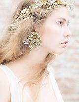 """- Glamour klipsňové náušnice """"rosa na lúčoch slnka"""" - 10533491_"""