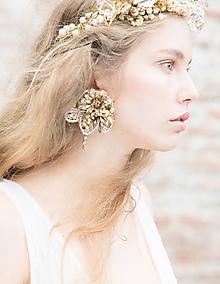 """Náušnice - Glamour klipsňové náušnice """"rosa na lúčoch slnka"""" - 10533491_"""