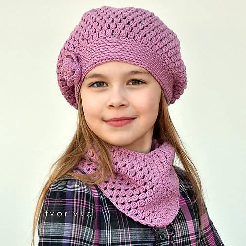 Úžasná čiapka a šatka ~ háčkovaný set