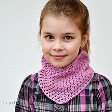 Detské doplnky - Úžasná ~ háčkovaná šatka - 10532942_