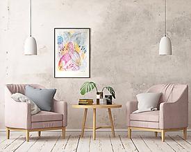 Kresby - Akvarel - farebná abstrakcia A3 - 10534001_
