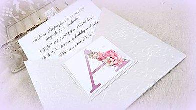 """Papiernictvo - Pozvánka alebo pohľadnica """"Voňavý monogram"""" - 10535771_"""