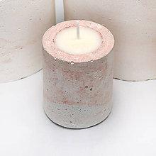 Svietidlá a sviečky - Dash of pink - sviecka - 10536609_