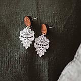 Náušnice - Náušničky - čipkované kvety (M) (Bižutérne komponenty) - 10534162_