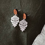 Náušnice - Náušničky - čipkované kvety (M) - 10534162_