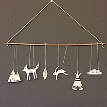 Detské doplnky - Závesná dekorácia - Líščie sny - 10535244_