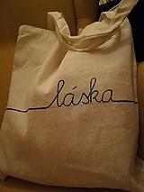 Nákupné tašky - Ručne maľovaná taška LÁSKA - 10536139_