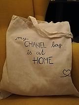 Nákupné tašky - Ručne maľovaná taška CHANEL - 10536182_