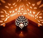 Svietidlá a sviečky - svetelné mosty - svietnik - 10536229_