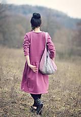Šaty - Bavlněné šaty růžovofialové - 10536288_