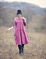 Šaty - Bavlněné šaty růžovofialové - 10536289_