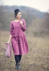 Šaty - Bavlněné šaty růžovofialové - 10536290_