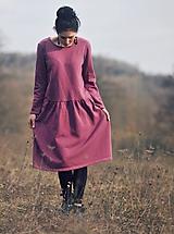 Šaty - Bavlněné šaty růžovofialové - 10536291_
