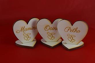 Papiernictvo - Drevená menovka pre svadobných hosti +vlastný obrazok - 10533140_