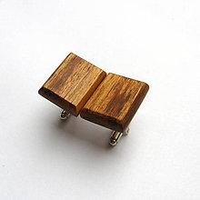 Šperky - Drevené manžetové gombíky - orechové obdĺžniky - 10535544_