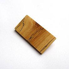 Odznaky/Brošne - Drevená brošňa - špaltovaná breza - 10535646_