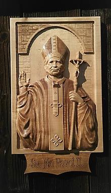 Dekorácie - Sv. Ján Pavol II. - 10539802_
